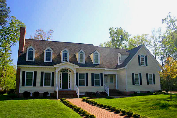 Colonial Home replacement roofing - Williamsburg Area of Virginia
